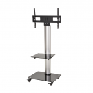 DQ Mobile TV Stand Adrian 2 Silver