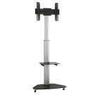 DQ Mobile TV Stand Silver Bullit