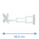DQ Rotate XL 98,5 cm White TV Wall Bracket